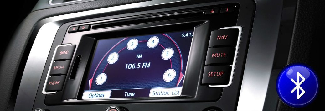 Volkswagen infotainment screen with Bluetooth icon