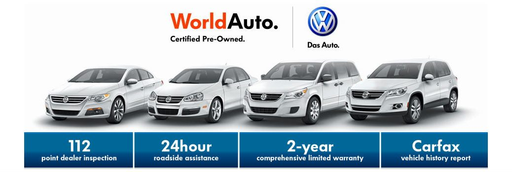WorldAuto Certified banner with list of benefits