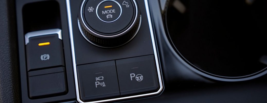Closeup Of Center Console Buttons in Volkswagen Atlas