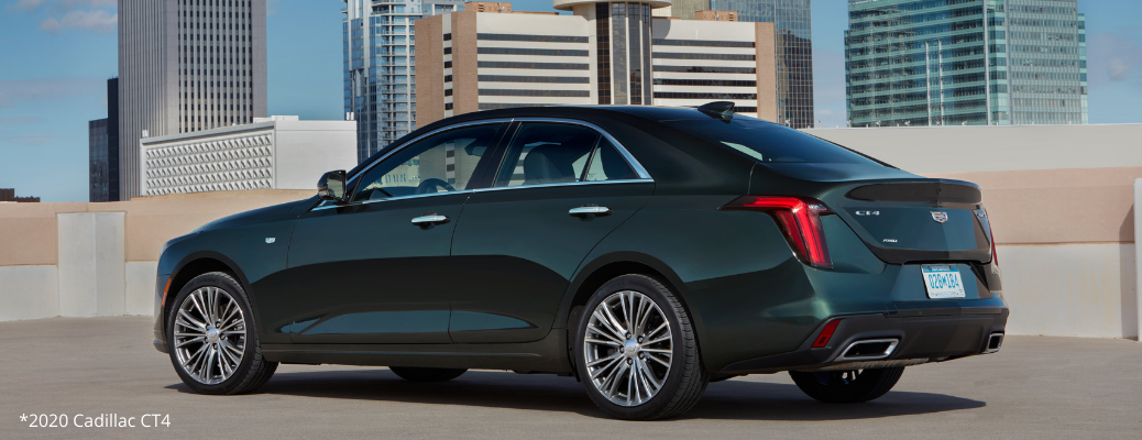 Side view of black 2020 Cadillac CT4