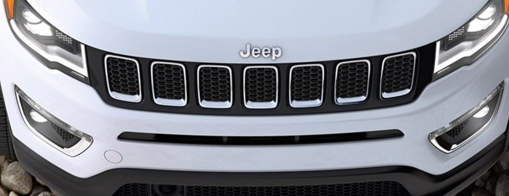 Front grille and badging of the 2020 Jeep Compass