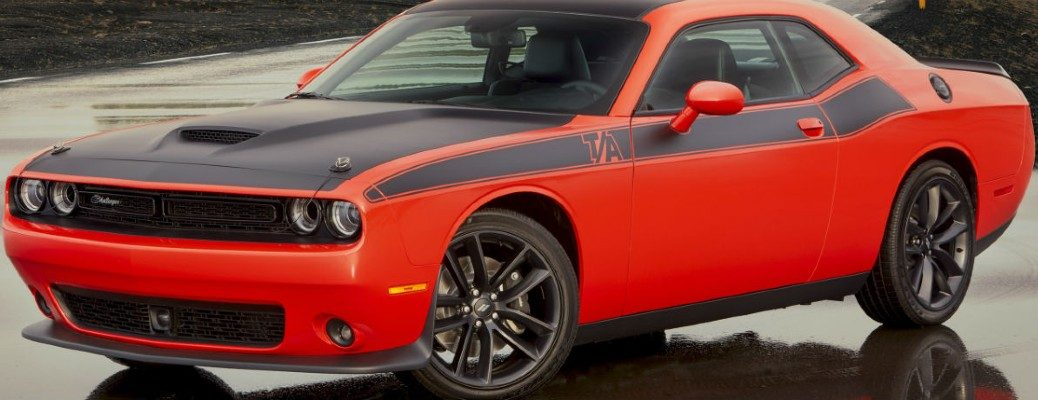 Front/side profile of a 2020 Dodge Challenger