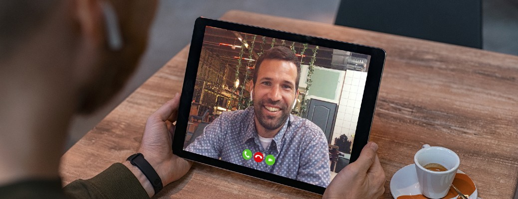 Video chatting with a tablet
