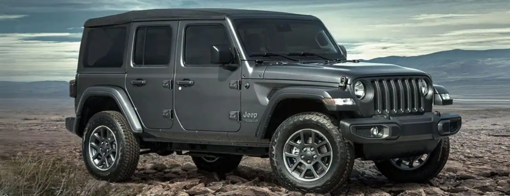 2021 Jeep Wrangler silver side view