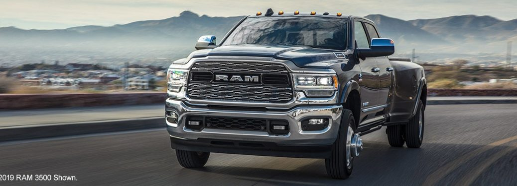 2020 RAM 3500 cruising down the road