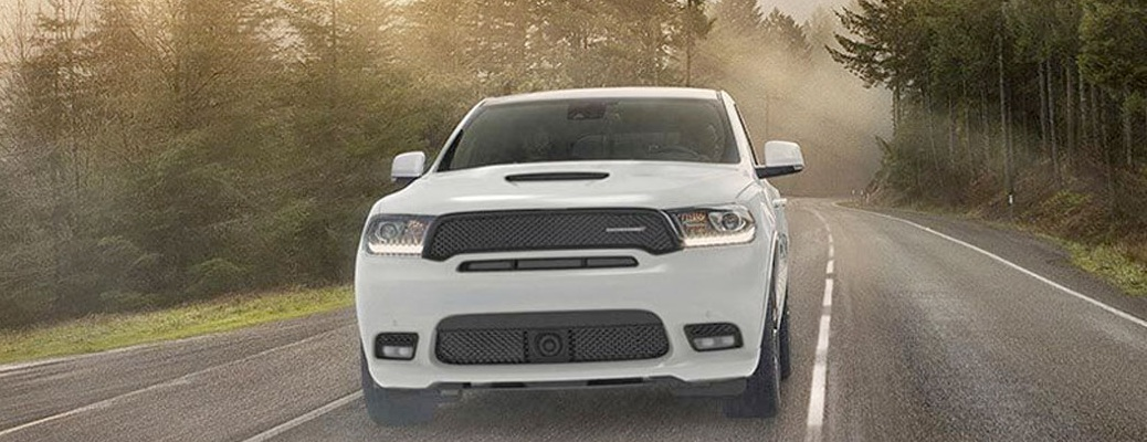 2020 Dodge Durango cruising down the street