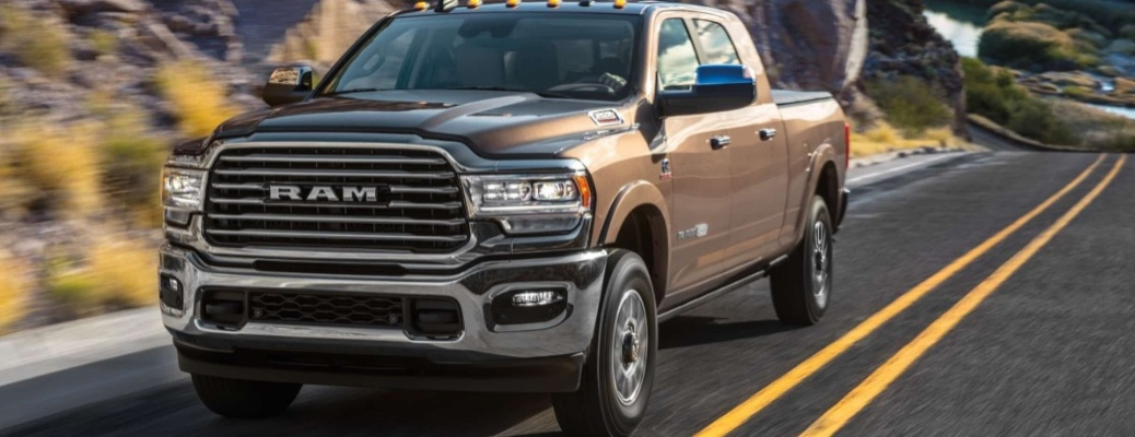 2020 RAM 2500 going down the road