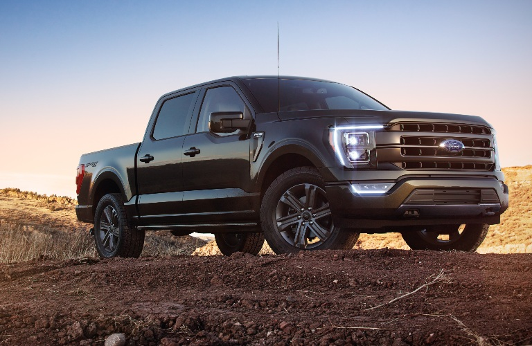 2021 Ford F-150 on a dirt hill