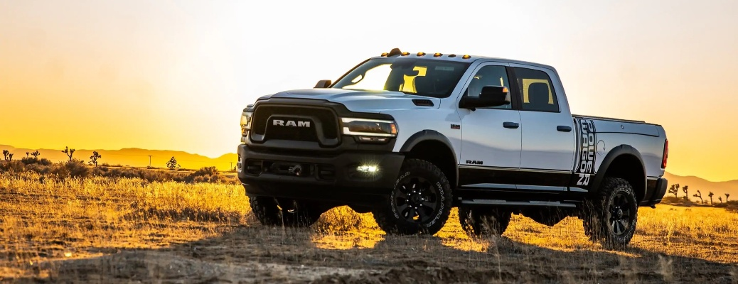 2021 RAM 2500 with sunset in the background