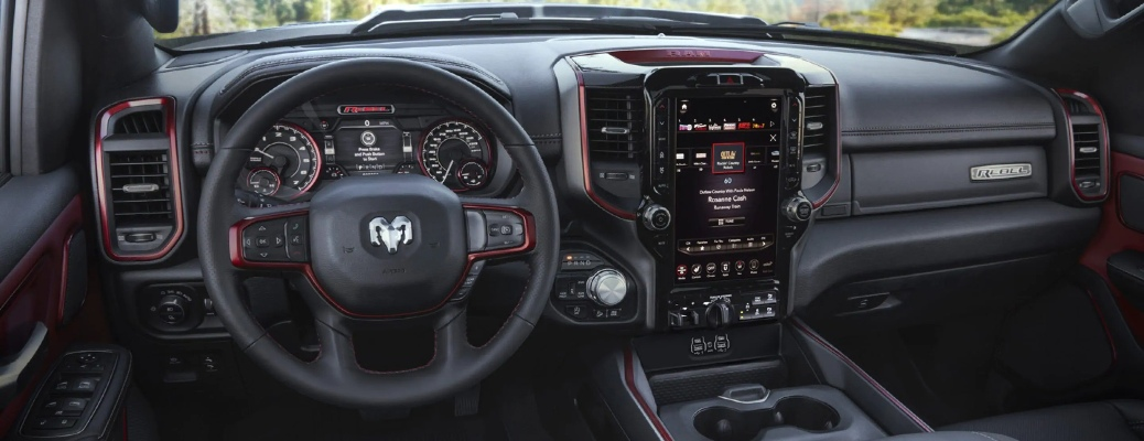 2021 RAM 1500 steering wheel and dashboard