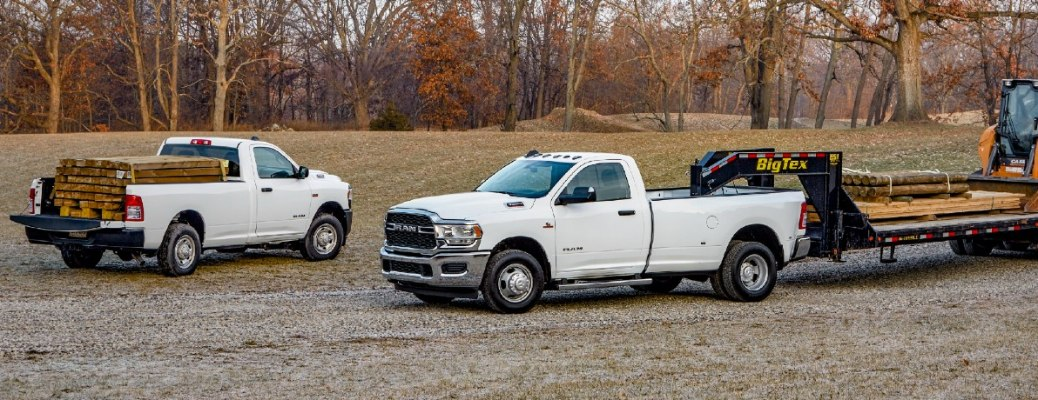 2021 RAM 2500 and 3500 with construction machinery