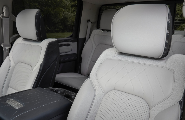 Front seats in the 2022 RAM 1500 Limited 10th Anniversary Edition