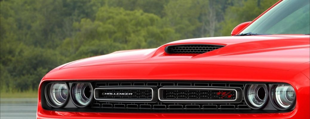 hood view of the 2021 Dodge Challenger