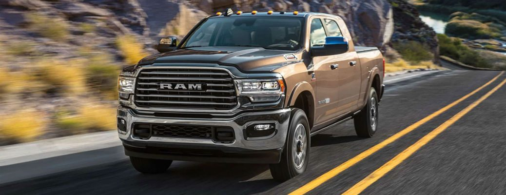 2020 Ram 2500 brown exterior front fascia driver side driving