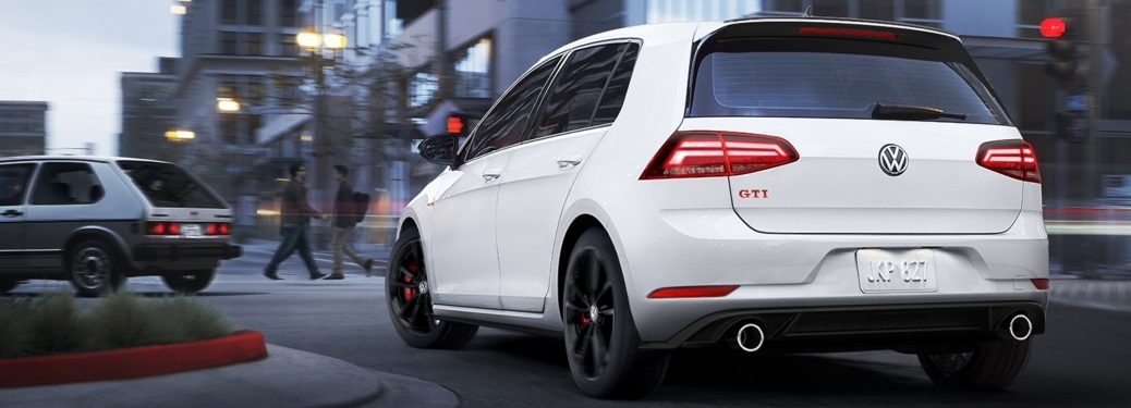 2019 Volkswagen Golf GTI driving in a city