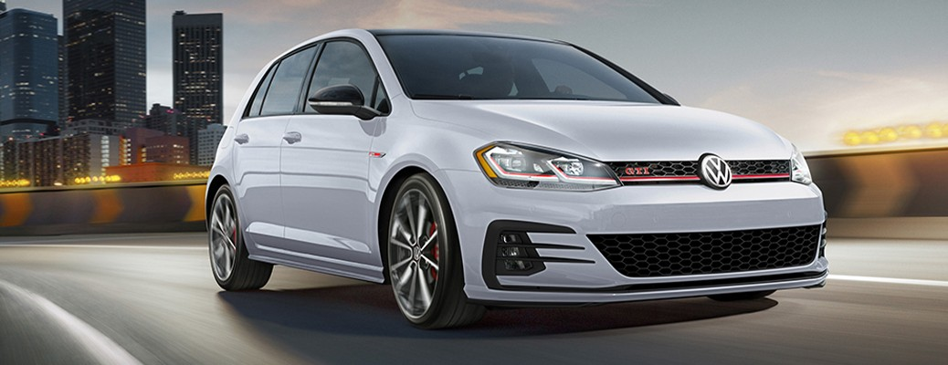 2021 VW Golf GTI driving on road