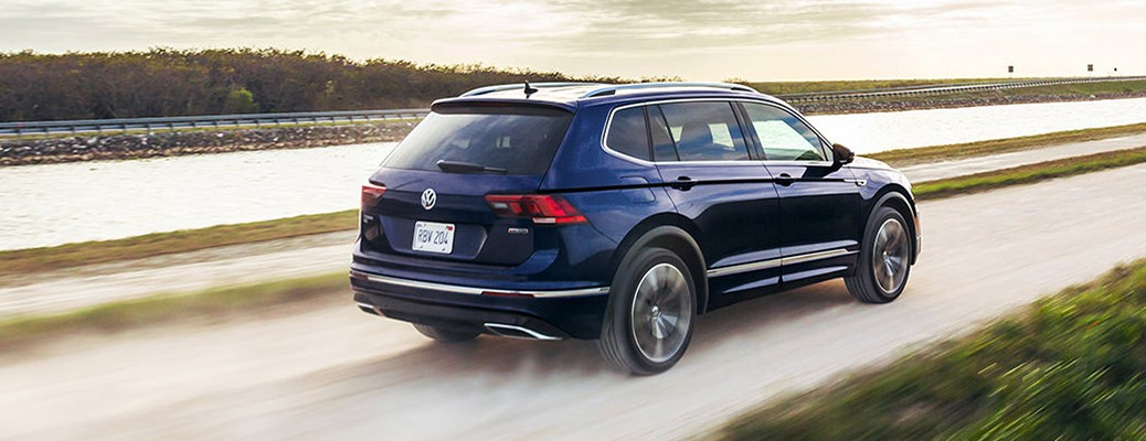 2021 Tiguan driving on dirt road by the river