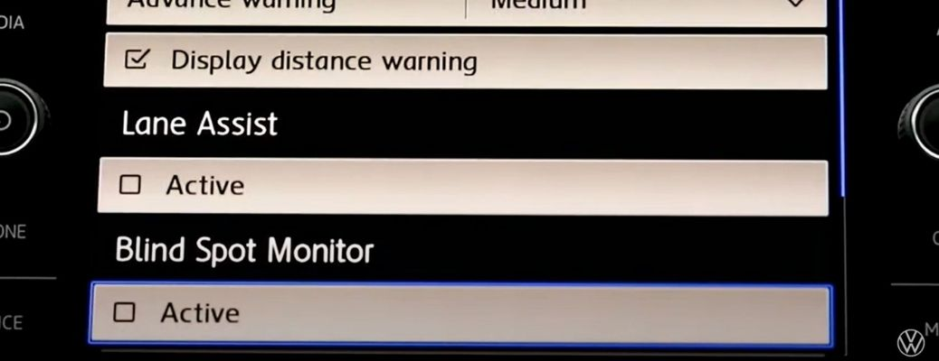 Blind Spot Monitor on the Car Display