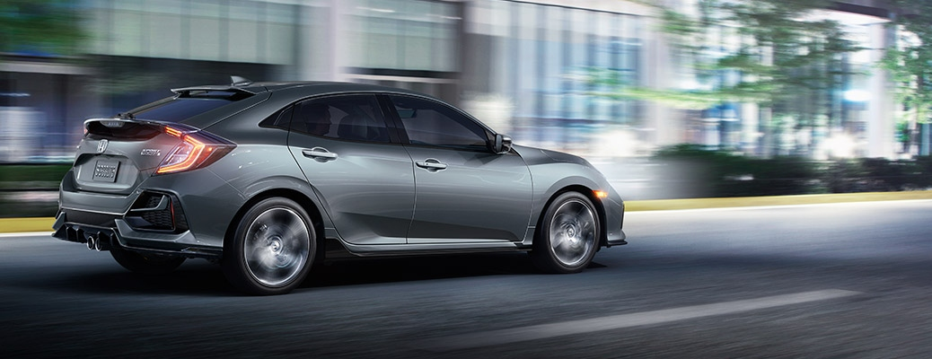 2020 Honda Civic Hatchback going down the road