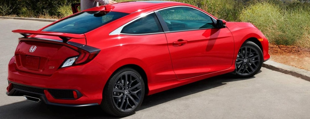 2020 Honda Civic Si Coupe parked at the end of the road