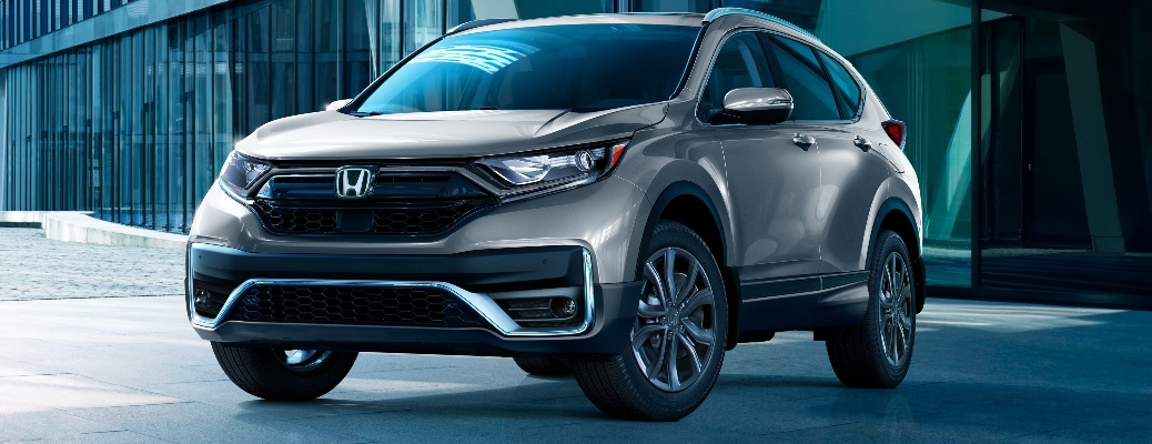 2021 Honda CR-V parked outside of a building