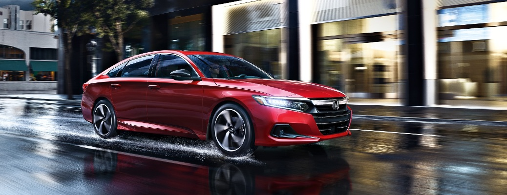 2021 Honda Accord going past a store