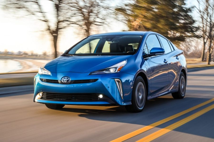 2020 Toyota Prius driving down road