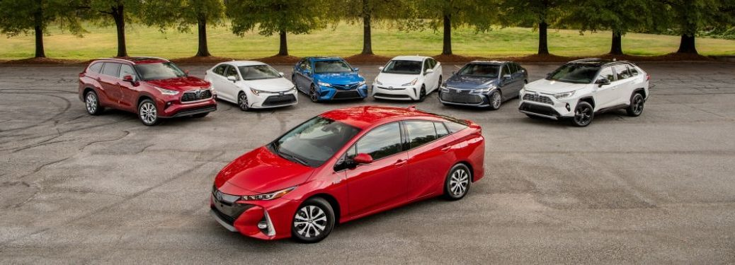 2020 Toyota Hybrid models in parking lot