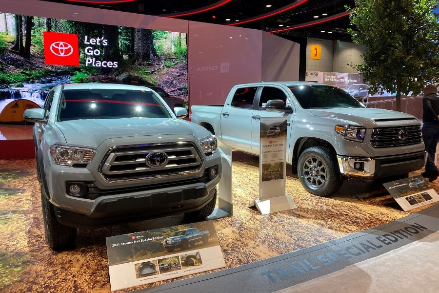 2021 Toyota Tacoma and 2021 Toyota Tundra Trail Special Edition at Chicago Auto Show