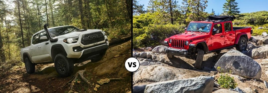 Watch a Video Comparison of the 2020 Toyota Tacoma vs the 2020 Jeep Gladiator!