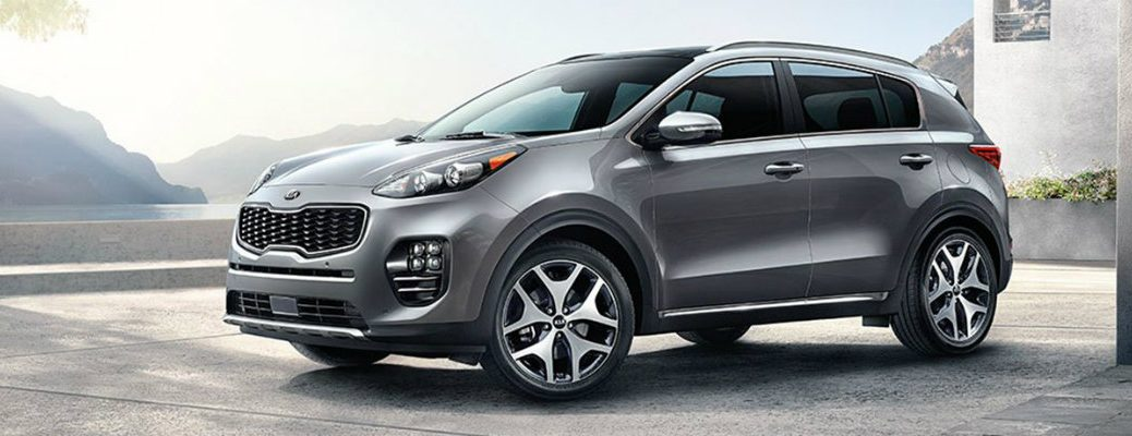 Front/side profile of the 2018 Kia Sportage