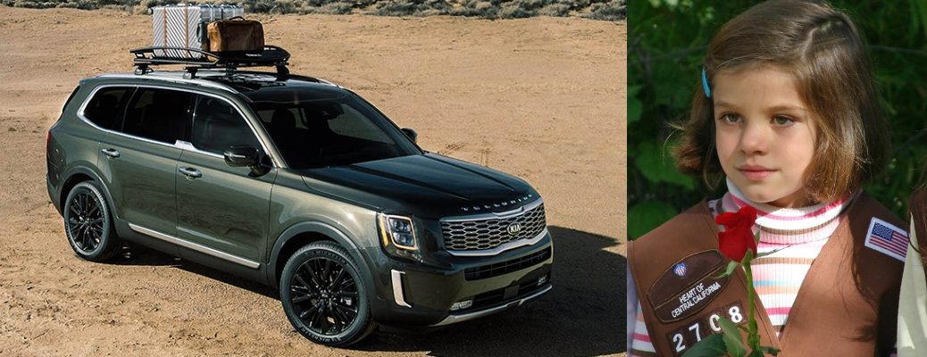 Image with the 2020 Kia Telluride and a Girl Scout