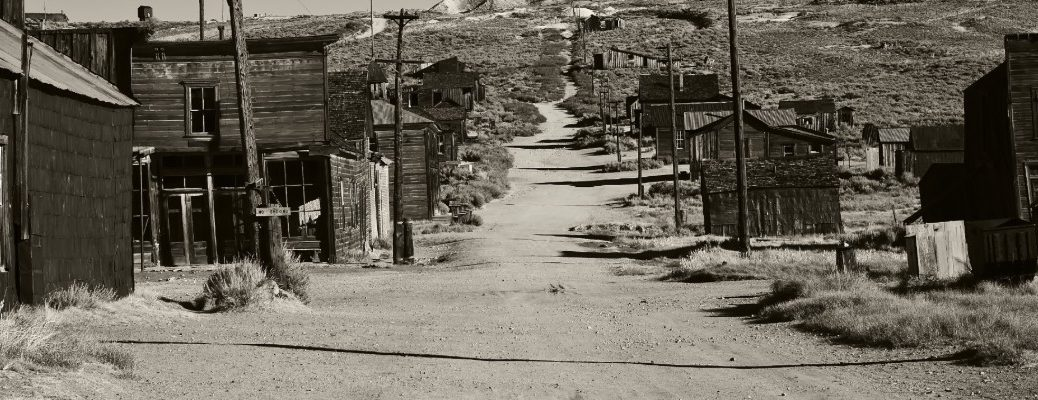 Old West Ghost Town in the US