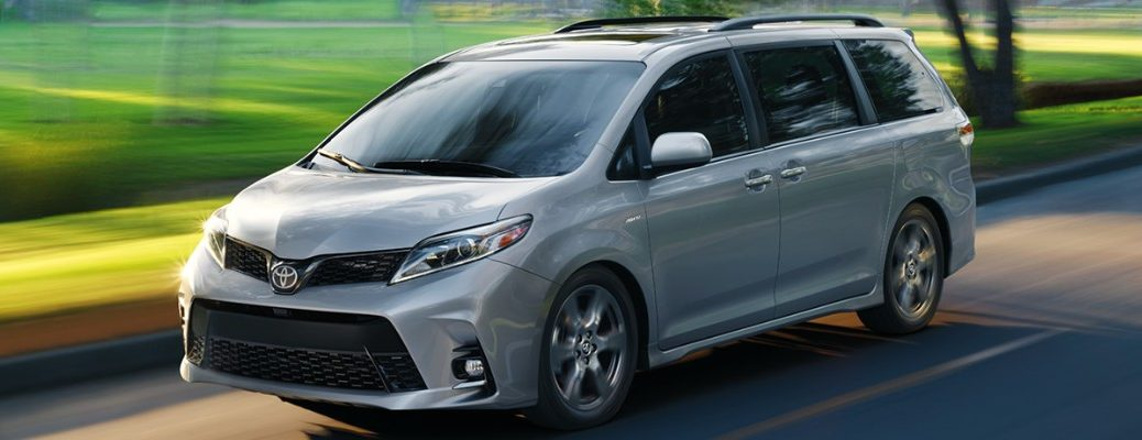 2020 Toyota Sienna driving on a road