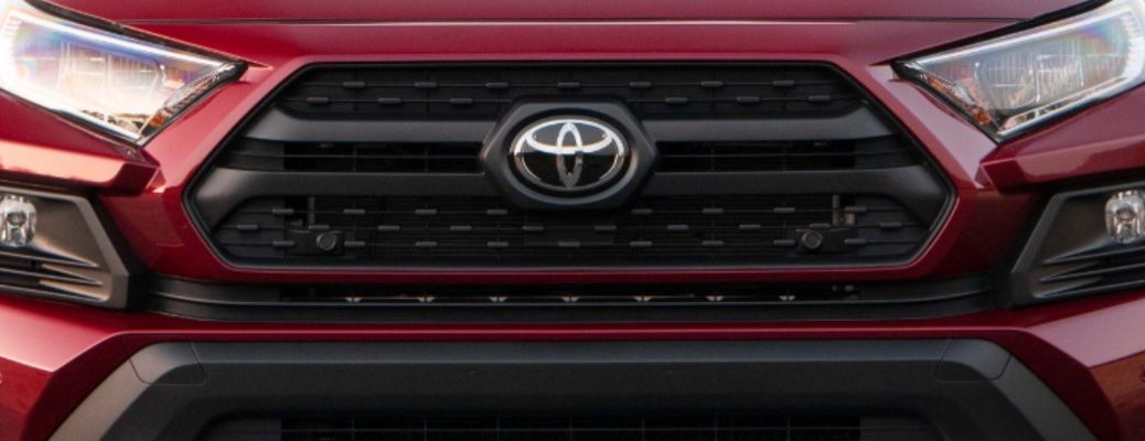Front grille of a 2019 Toyota RAV4