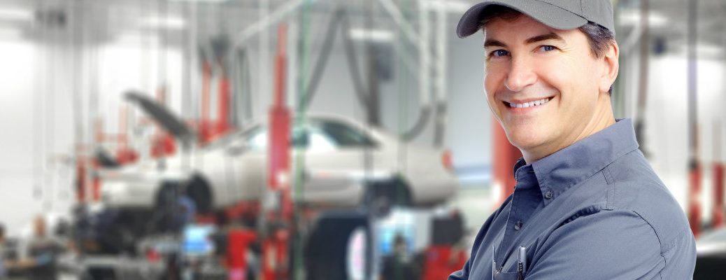 Mechanic in a service center