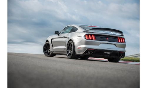 2020 Ford Mustang Shelby on a track