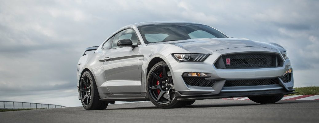 2020 Ford Mustang Shelby on a racetrack