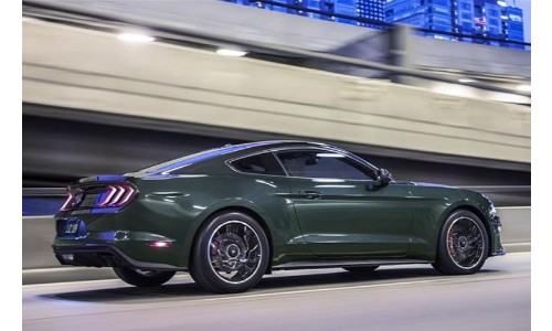 2019 Ford Mustang in the city
