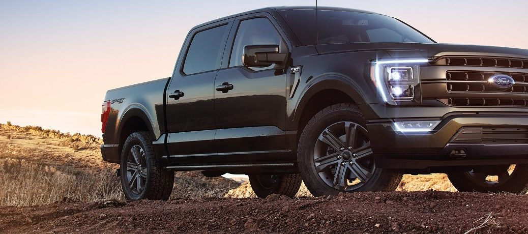 2021 Ford F-150 on dirt terrain