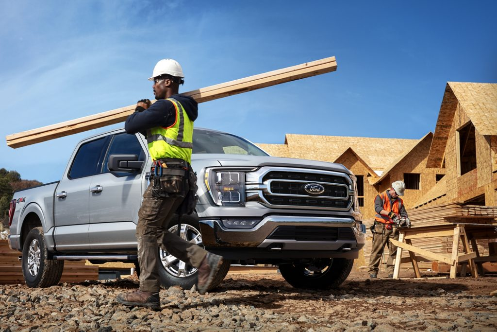 2021 Ford F-150 on construction site