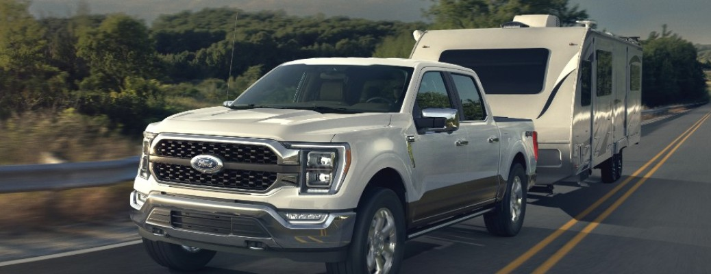 2021 Ford F-150 on open highway