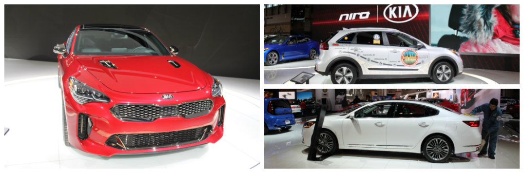 Images of Kia Models at the Chicago Auto Show: 2018 Stinger, 2017 Niro, More