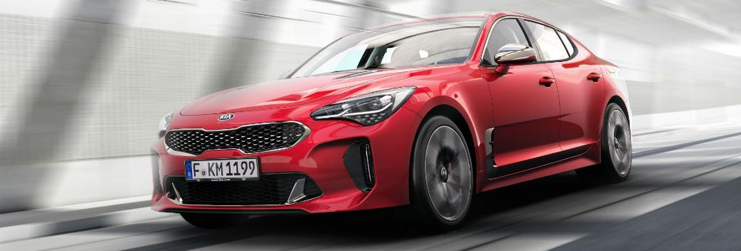 2018 Kia Stinger road and grip traction testing in Sweden sports car