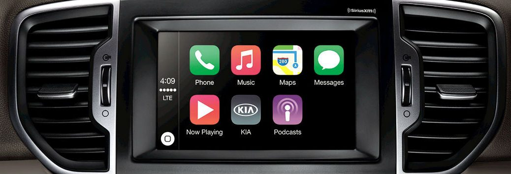 New Kia models with Apple CarPlay Sportage Optima Sorento and others
