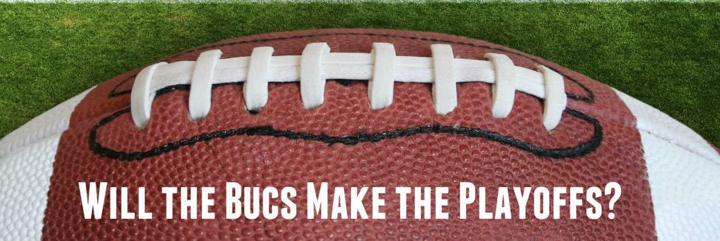 Close-up of football with laces showing