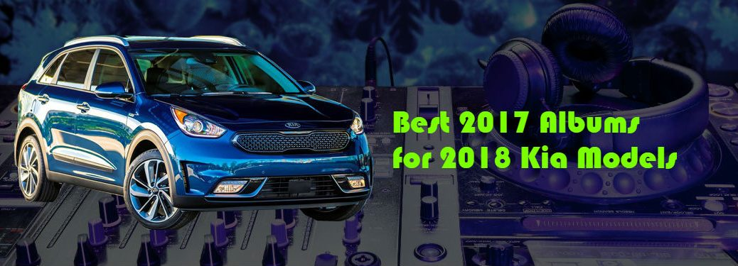 2017 kia rio in front of turntable graphic