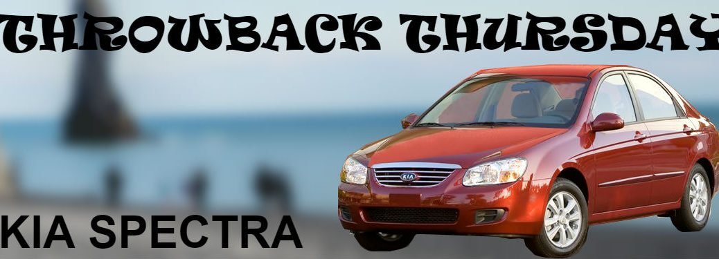 kia spectra on blurred beach background for throwback thursday