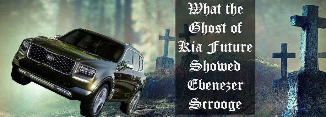 kia telluride imposed on image of graveyard and text overlaid with title of blog