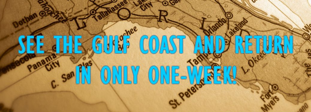 one week gulf coast road trip overlaid an image of a map of floridas west coast